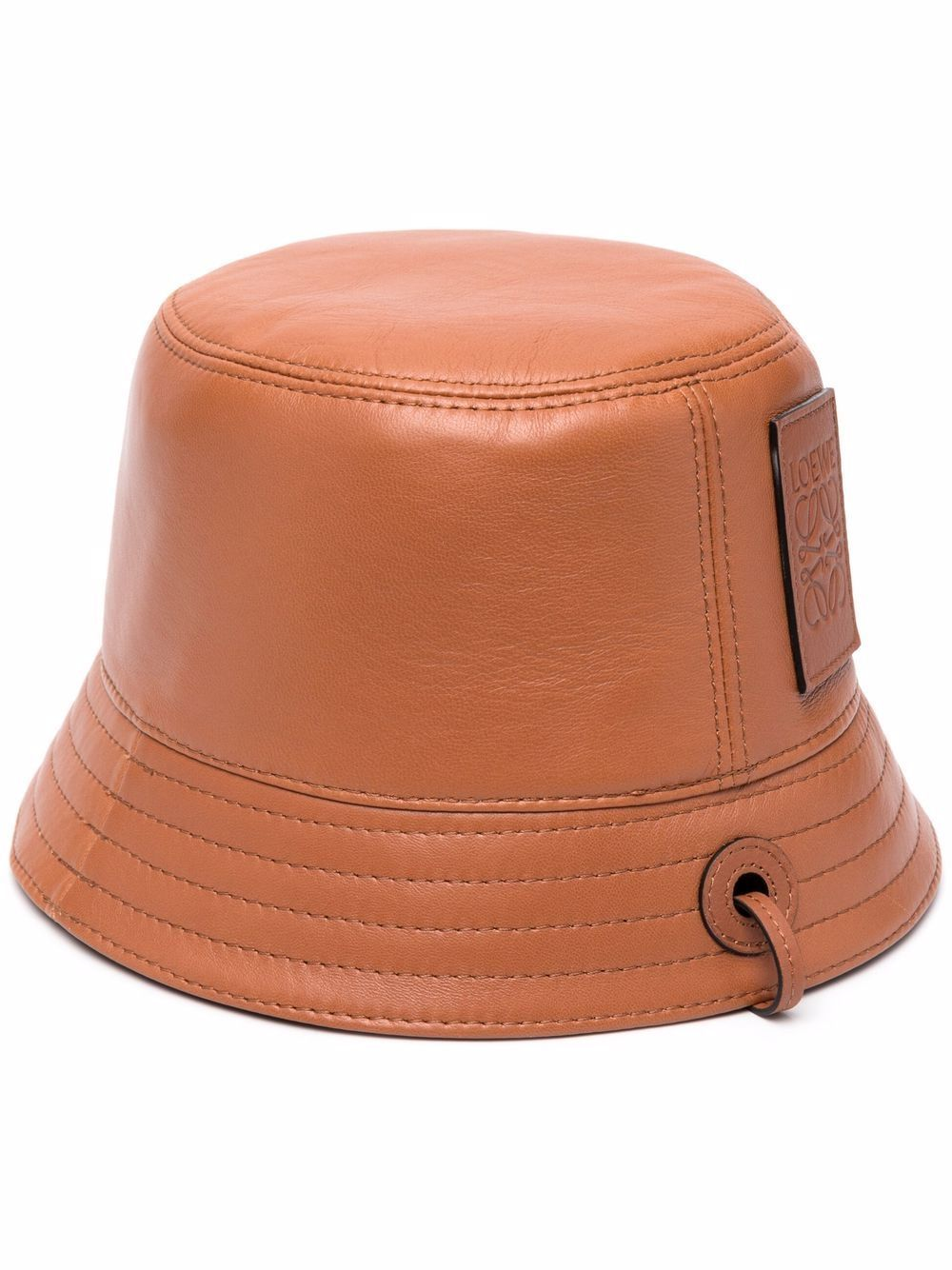 Cappello bucket in pelle