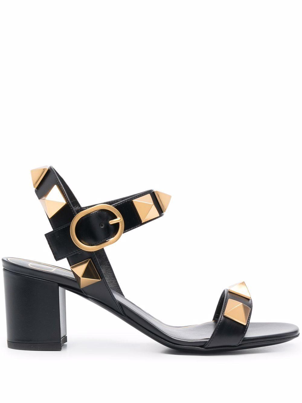 Sandalo con tacco roman stud in pelle