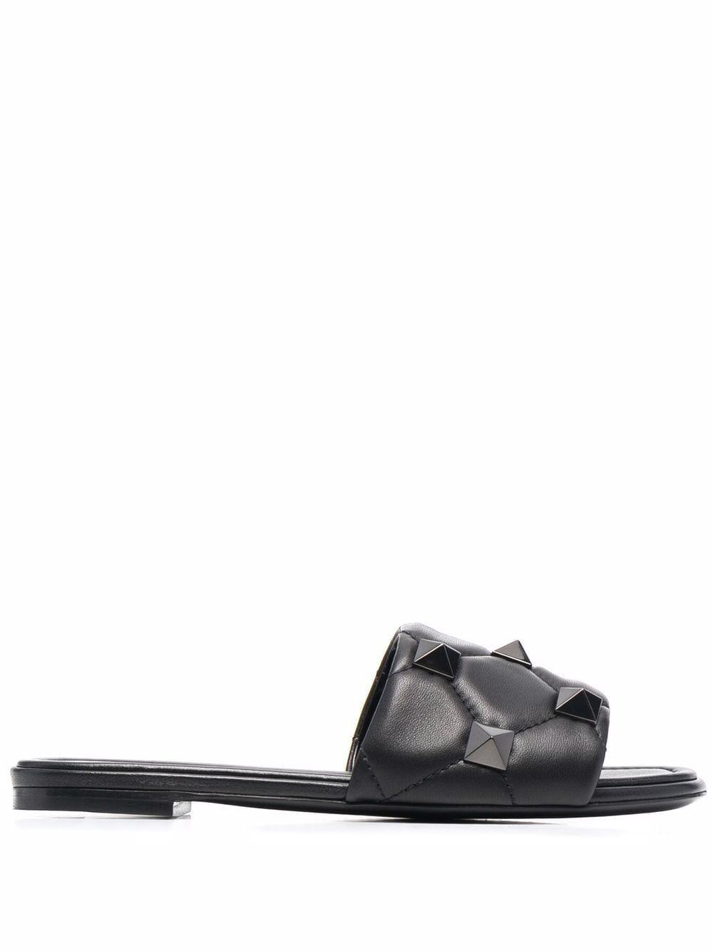Sandalo roman stud in pelle