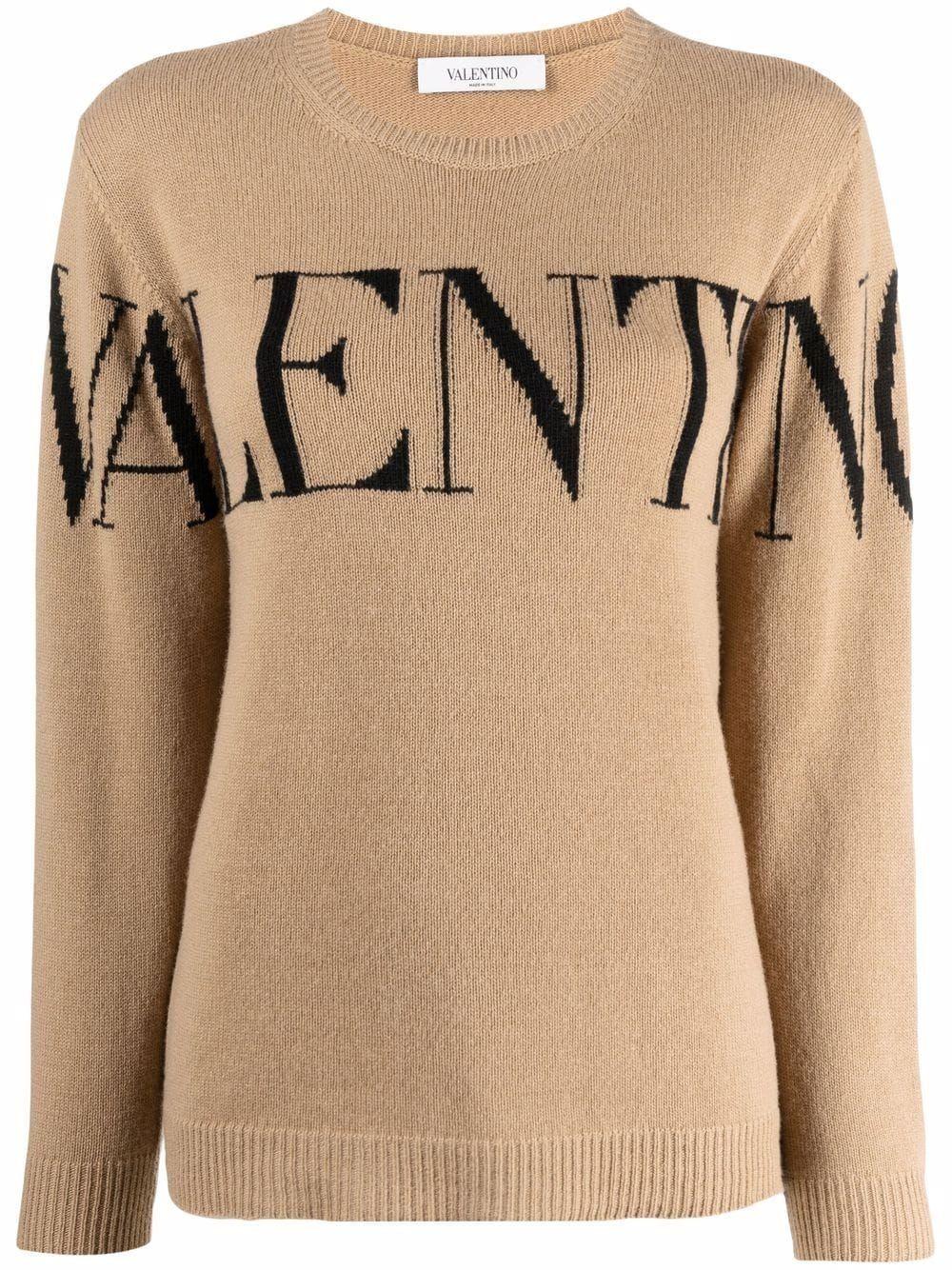 Maglia in cashmere con logo