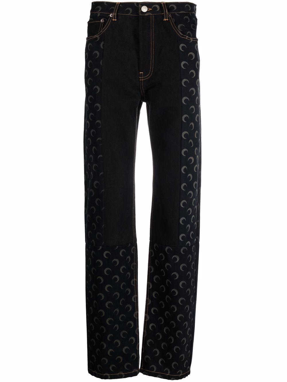 Jeans stampa lune in cotone