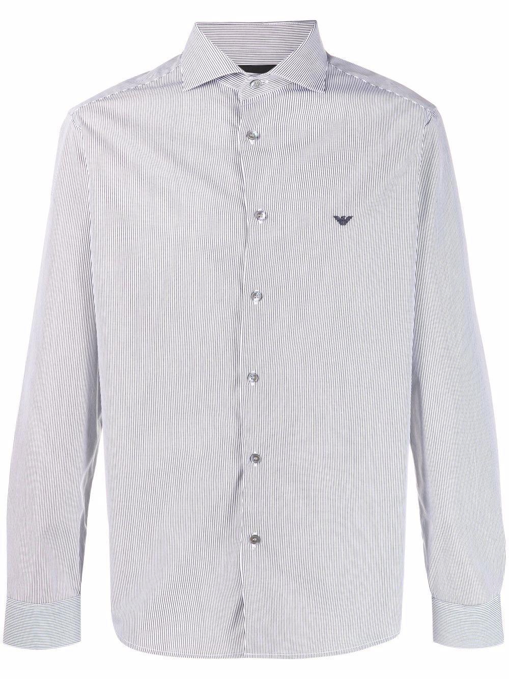 Camicia in cotone rigata
