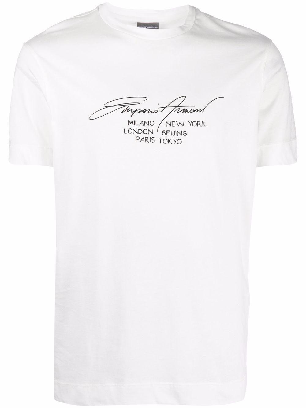 T-shirt in cotone con logo