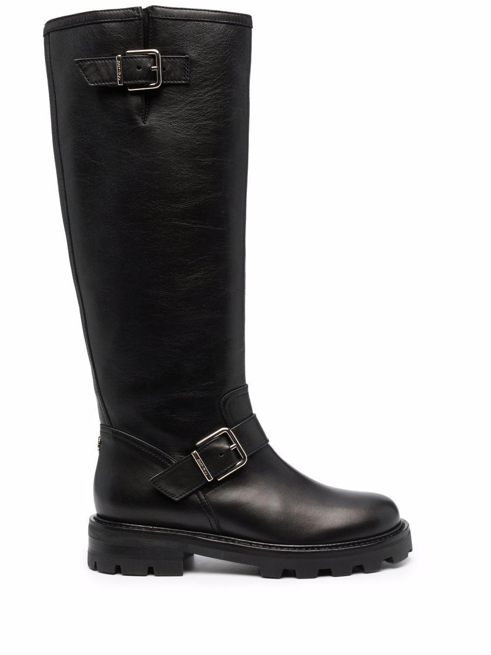Biker letaher boots