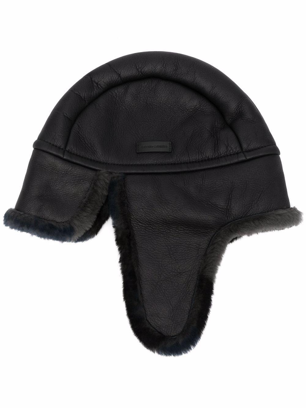 Cappello in pelle aviatore