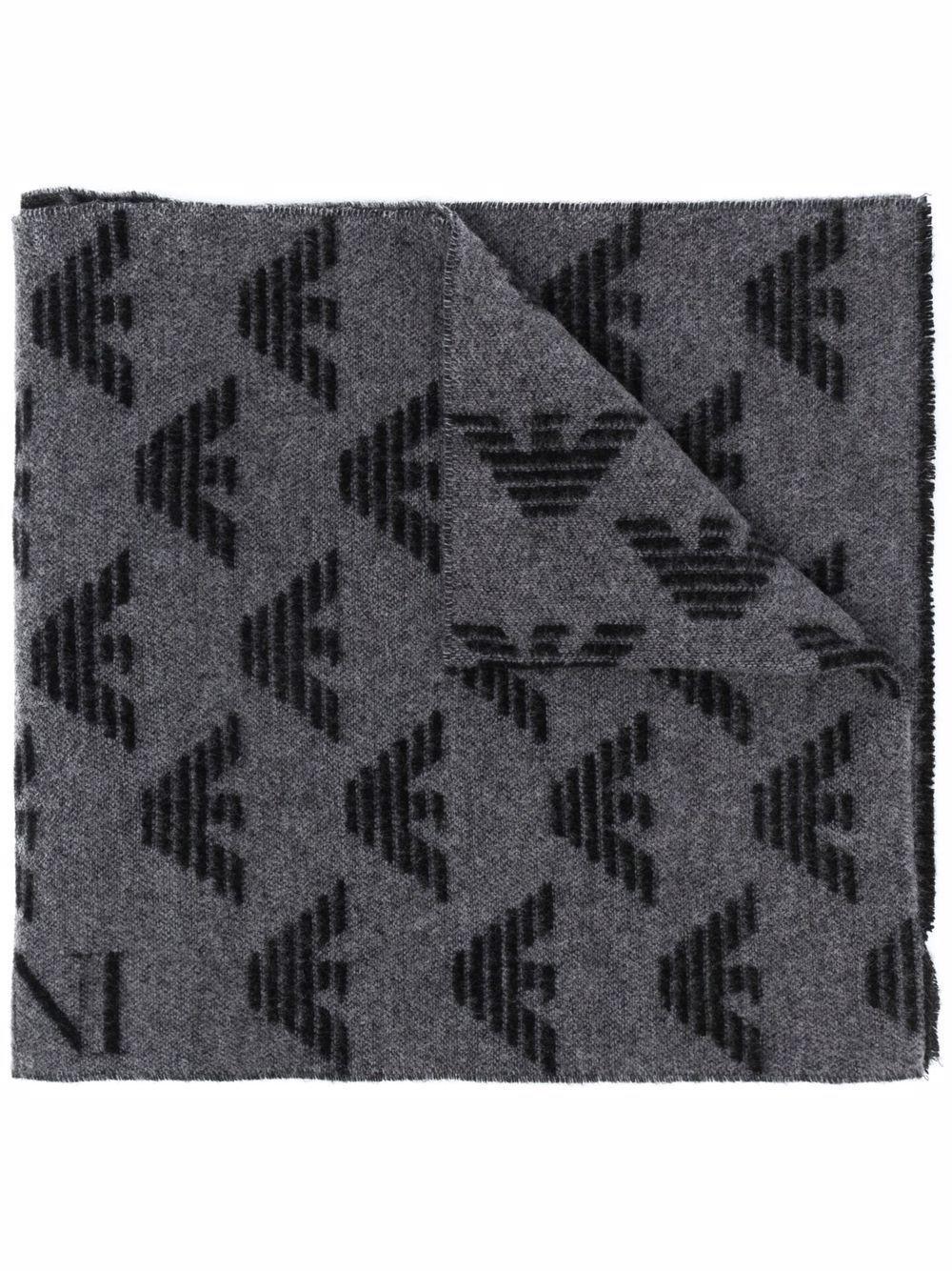 Sciarpa in lana con logo