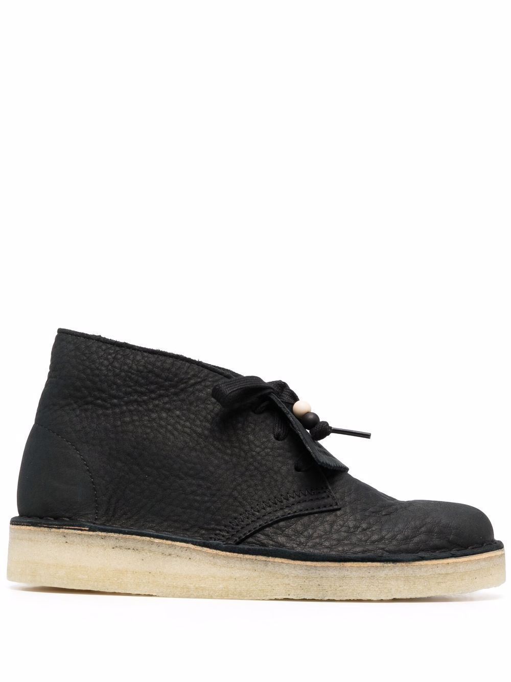 Desert coal leather ankle boots