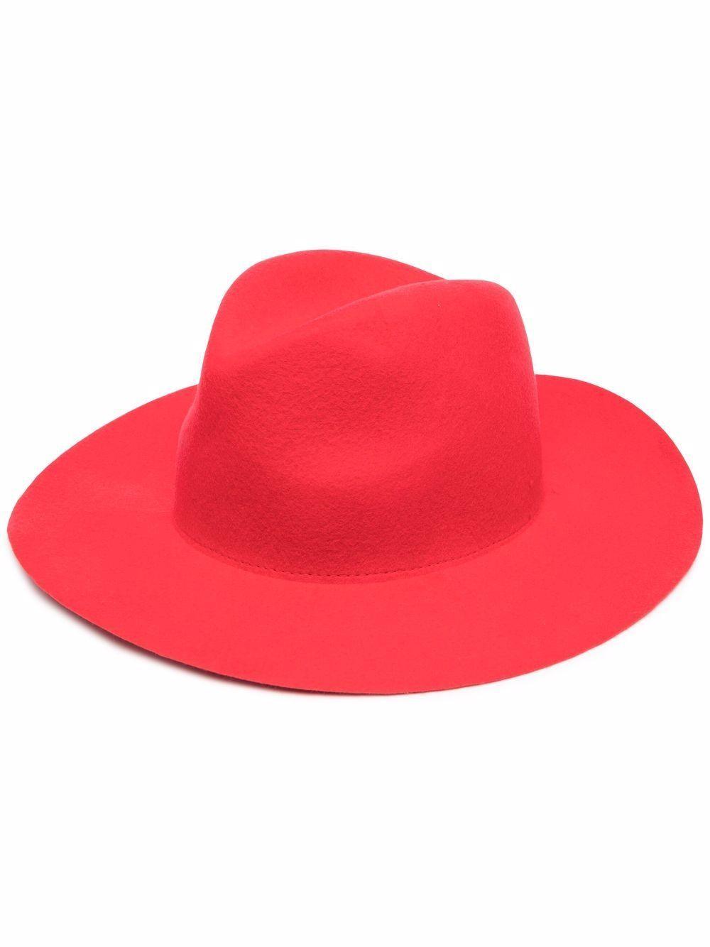 Cappello di feltro con velo di chiffon