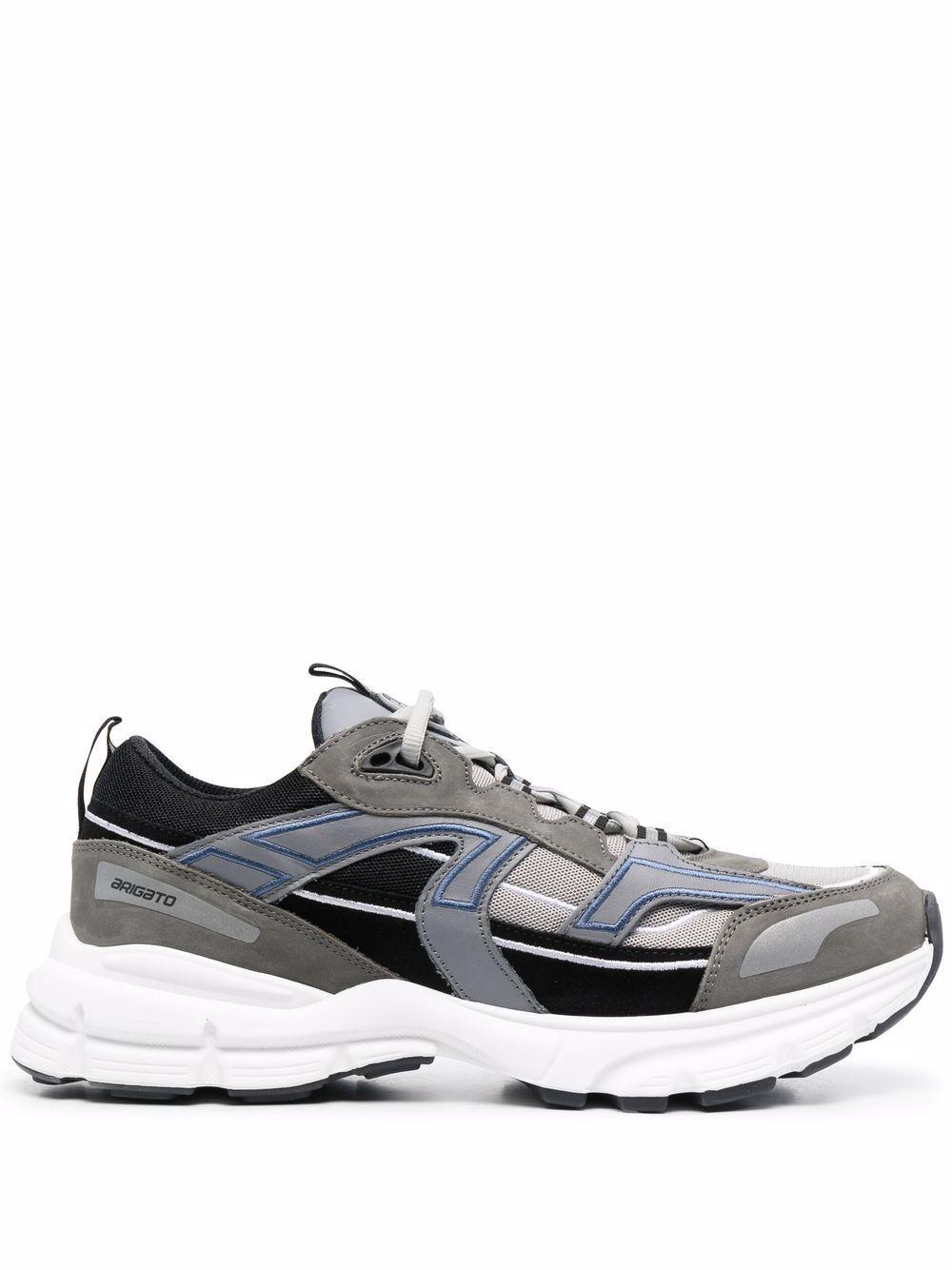 Sneaker marathon in pelle
