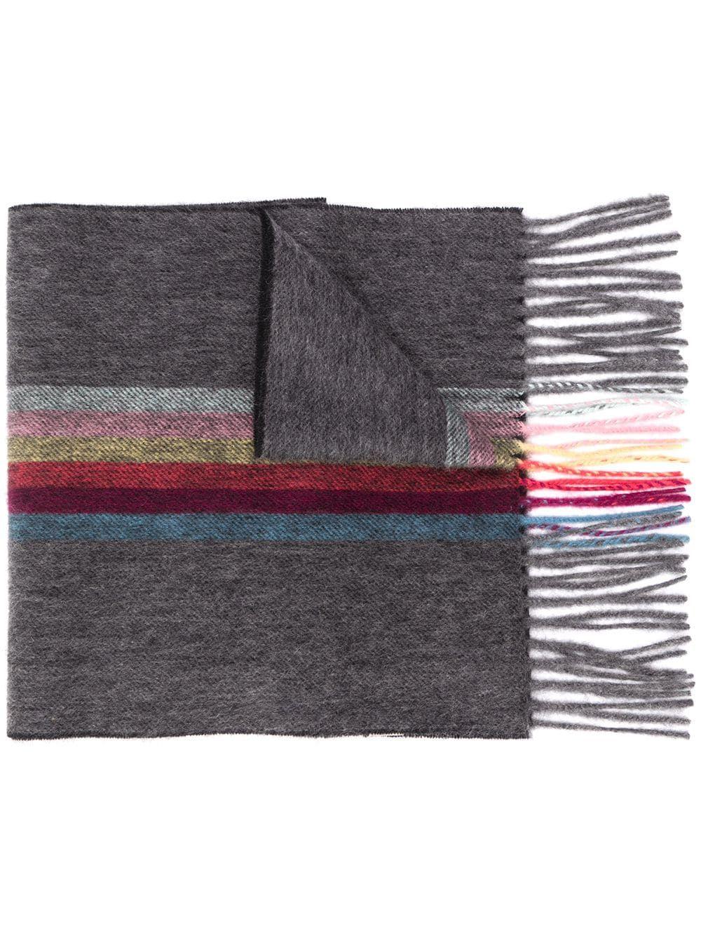 Sciarpa con bande multicolor