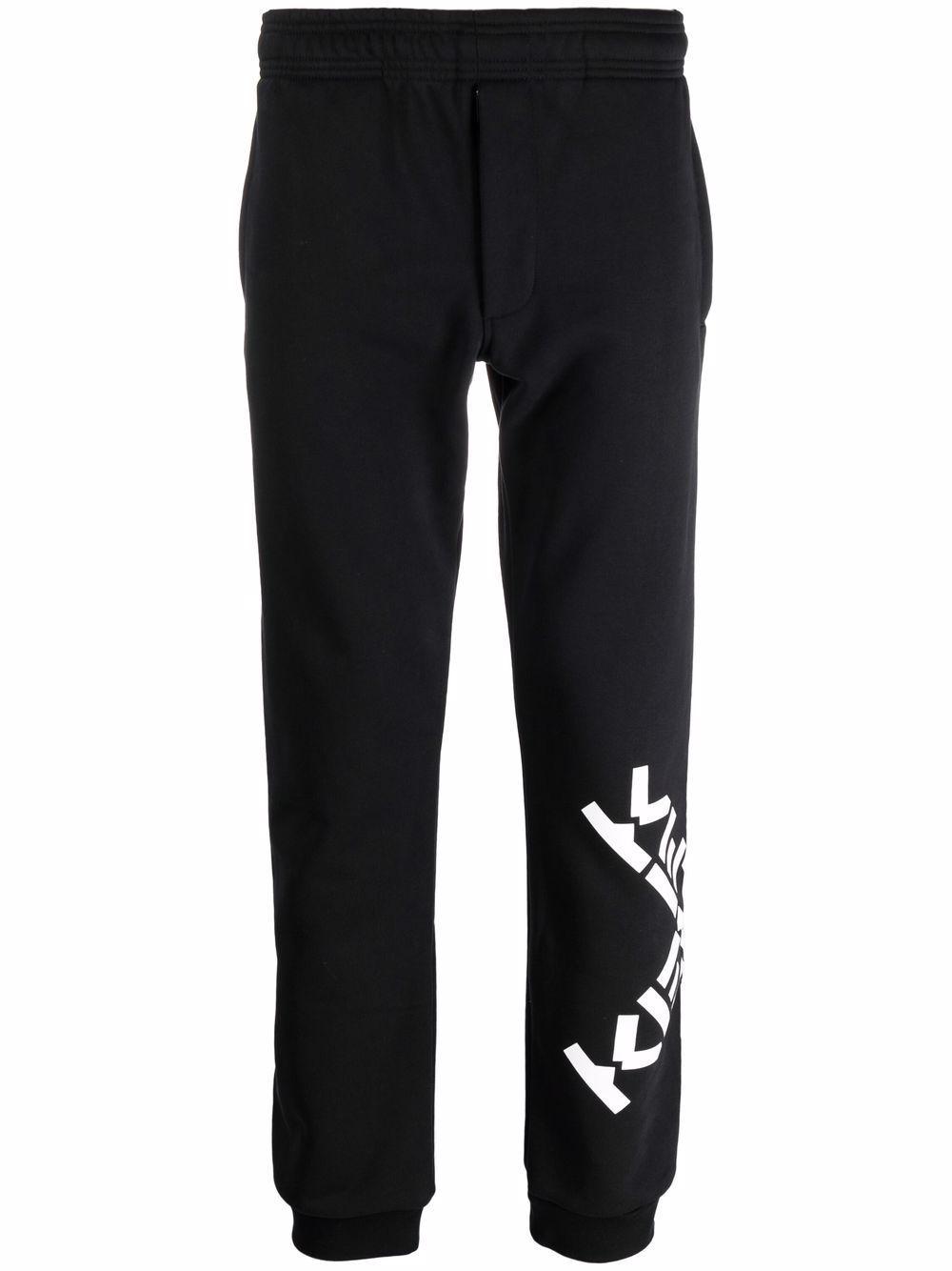 Pantalone in cotone con logo