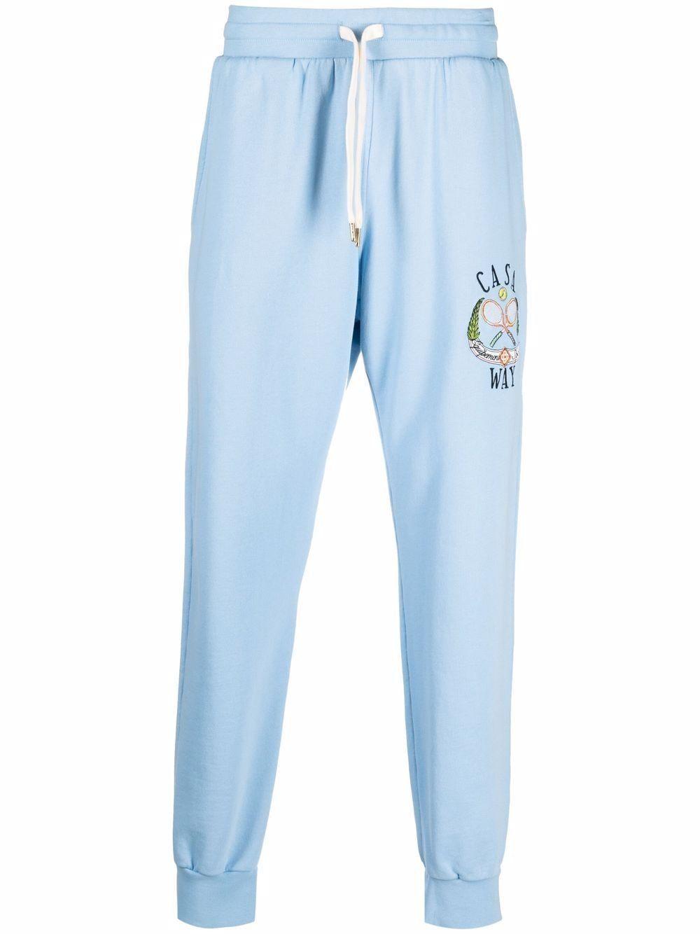 Pantalone della tuta logato in cotone