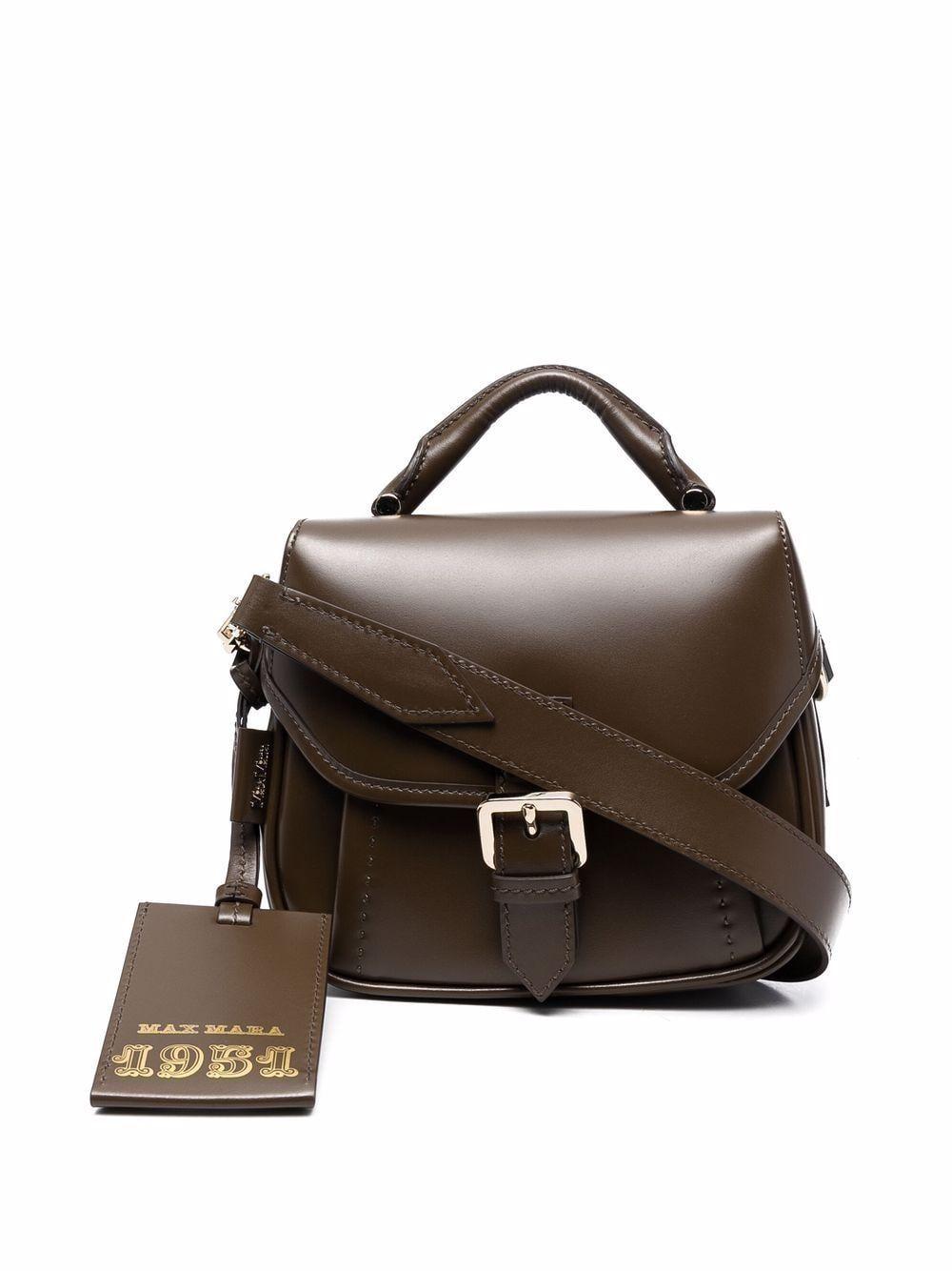 Anna petite leather shoulder bag