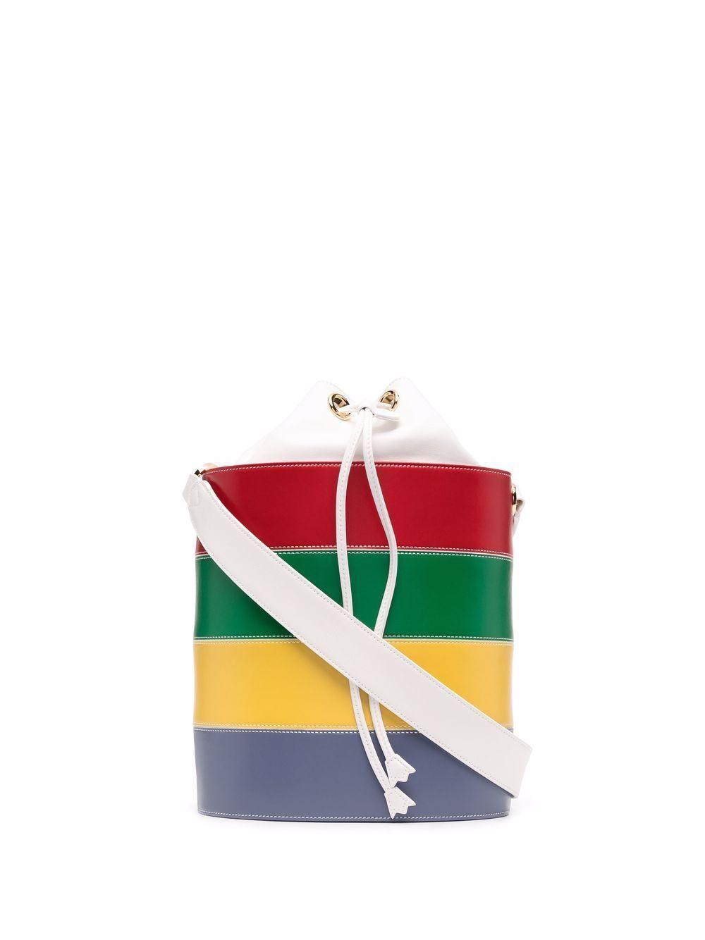 Basket leather handbag
