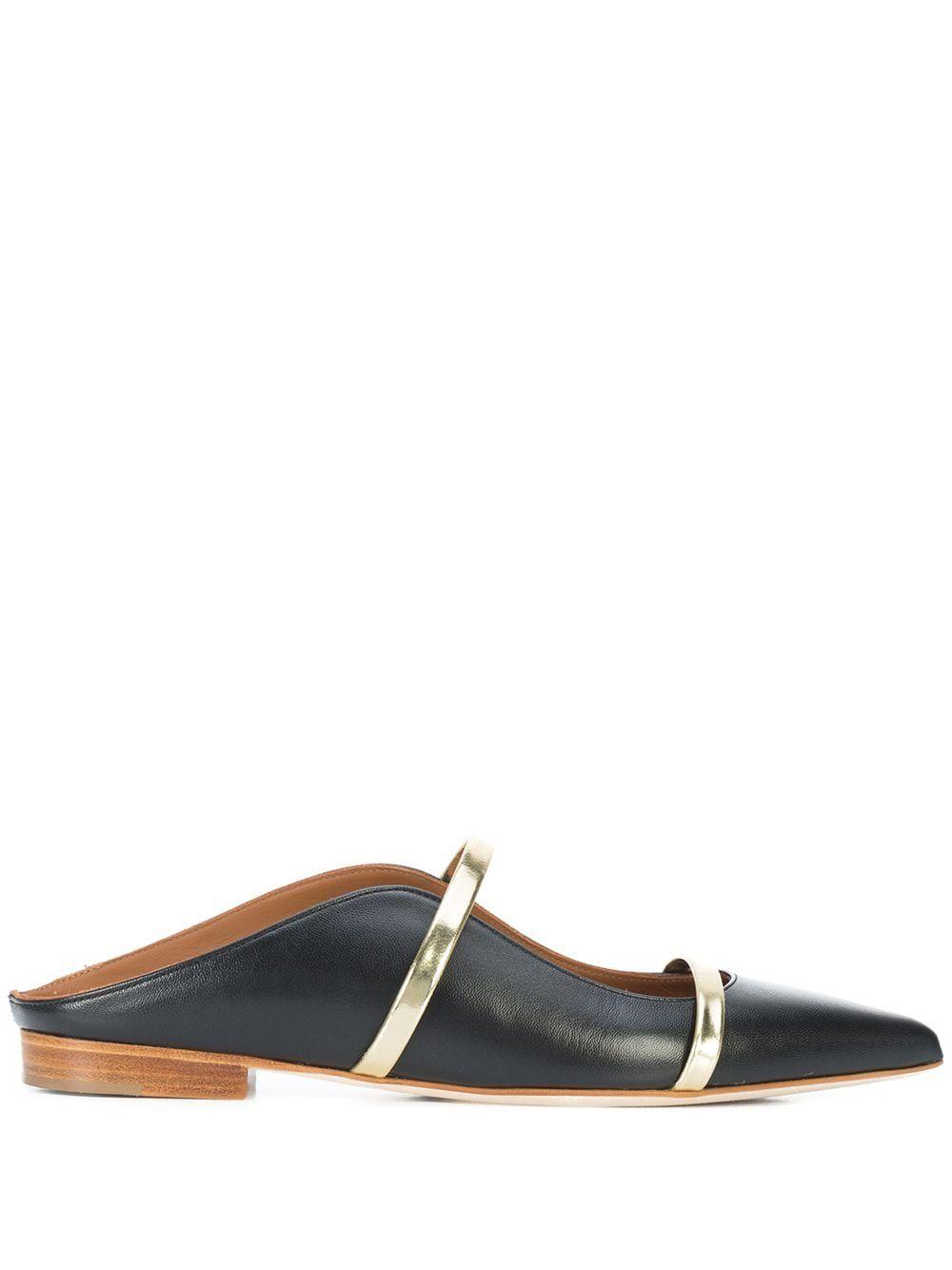 Maureen flat leather slippers